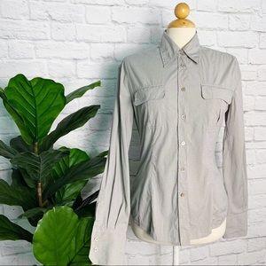 MIU MIU checkered button down career polo shirt